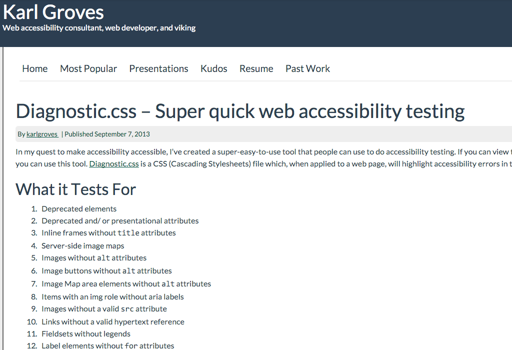 Diagnostic_css_–_Super_quick_web_accessibility_testing_–_Karl_Groves