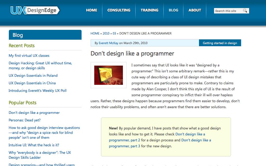 Revue de web 2 imagile for Experience design consultant