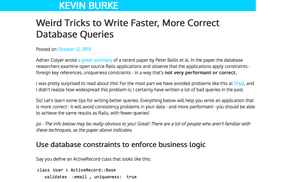 Weird_Tricks_to_Write_Faster__More_Correct_Database_Queries___Kevin_Burke