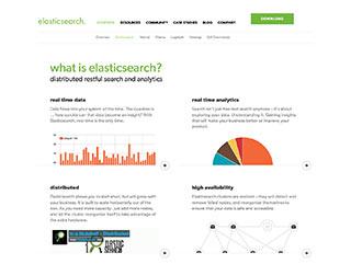 Le site d'Elasticsearch