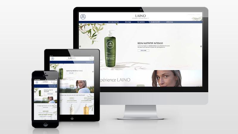 Laino : un nouveau site responsive