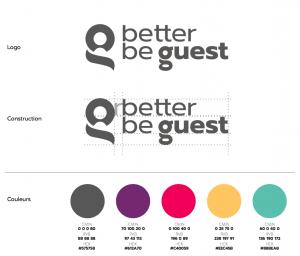 Logo et couleurs de BetterBeGuest