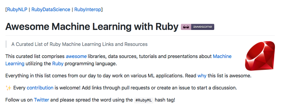 Machine learning sous Ruby