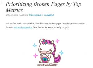 Etudier les pages 404