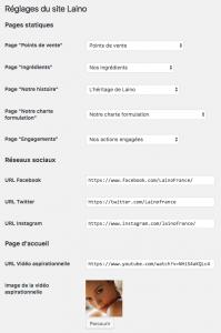 Un point fort de WordPress : les réglages personnalisés
