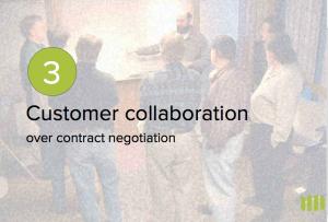 La collaboration avec les clients plus que la négociation contractuelle.