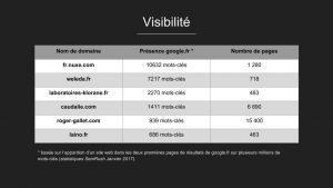 Audit de la concurrence : visibilité