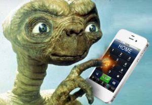E.T. téléphone maison pour mieux se rendre à la homepage