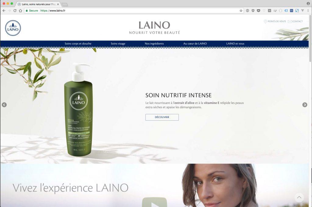Version desktop du nouveau site