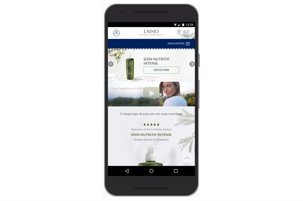 Version mobile du nouveau site