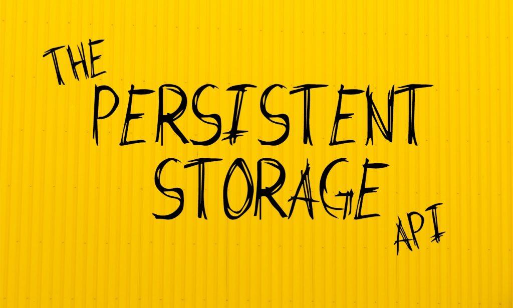 persistent storage api