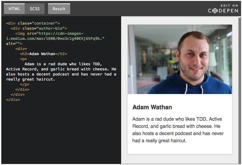 Une manière d'écrire le CSS
