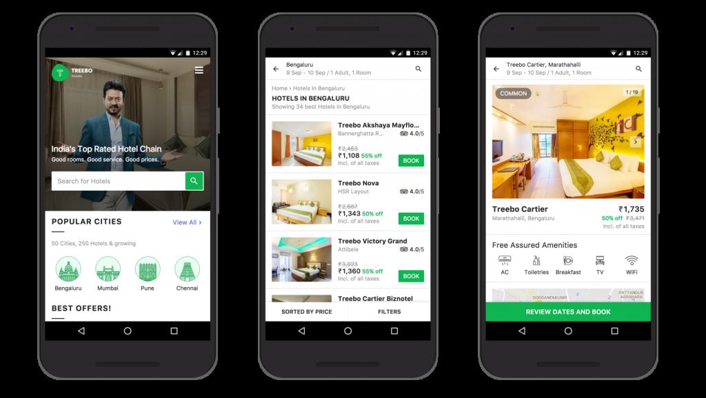 Progressive web-app pour la réservation d'hôtels