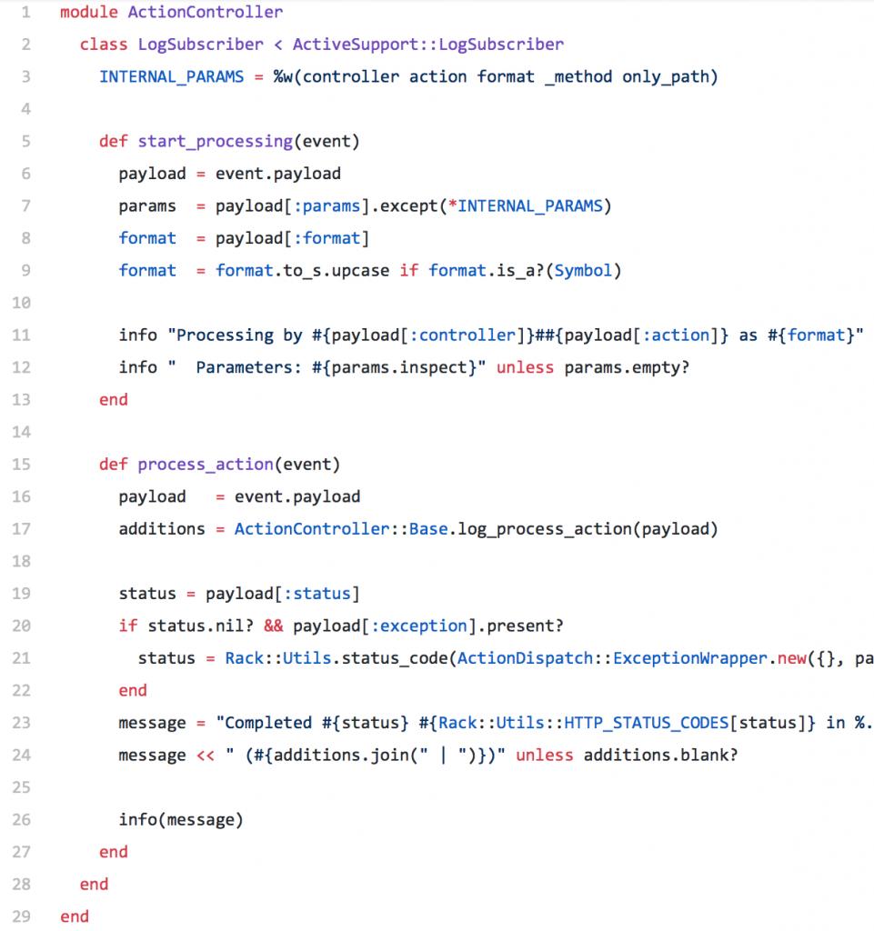 Historique des évènements dans Ruby on Rails