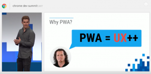 Les PWA avec Wordpress au Chrome Dev Summit