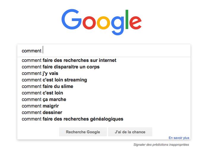 Google requêtes comment