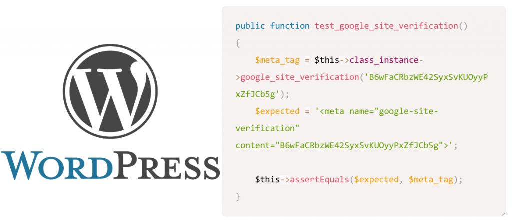 Wordpress tests unitaires
