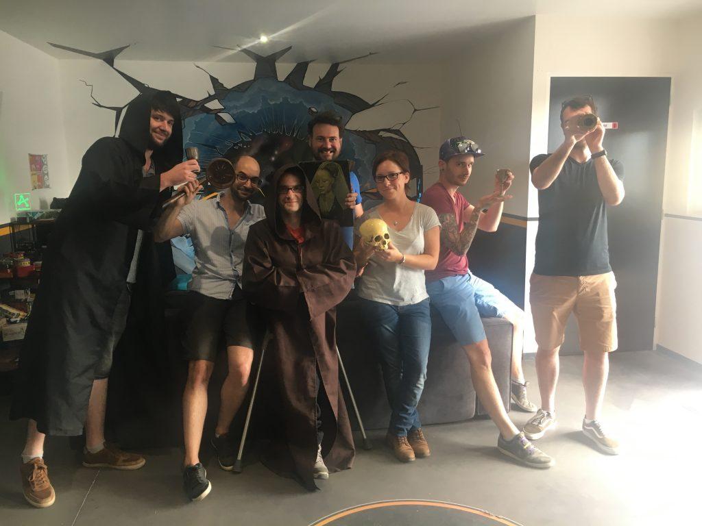 L'équipe à l'escape game caennais Atome Game