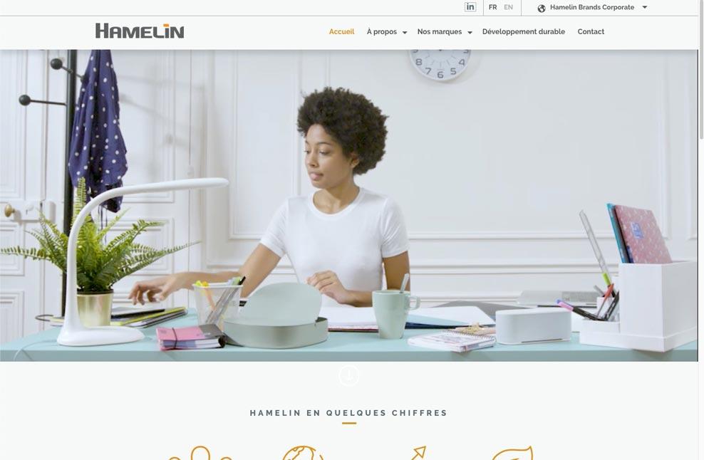 Menu pays fermé de Hamelin Brands