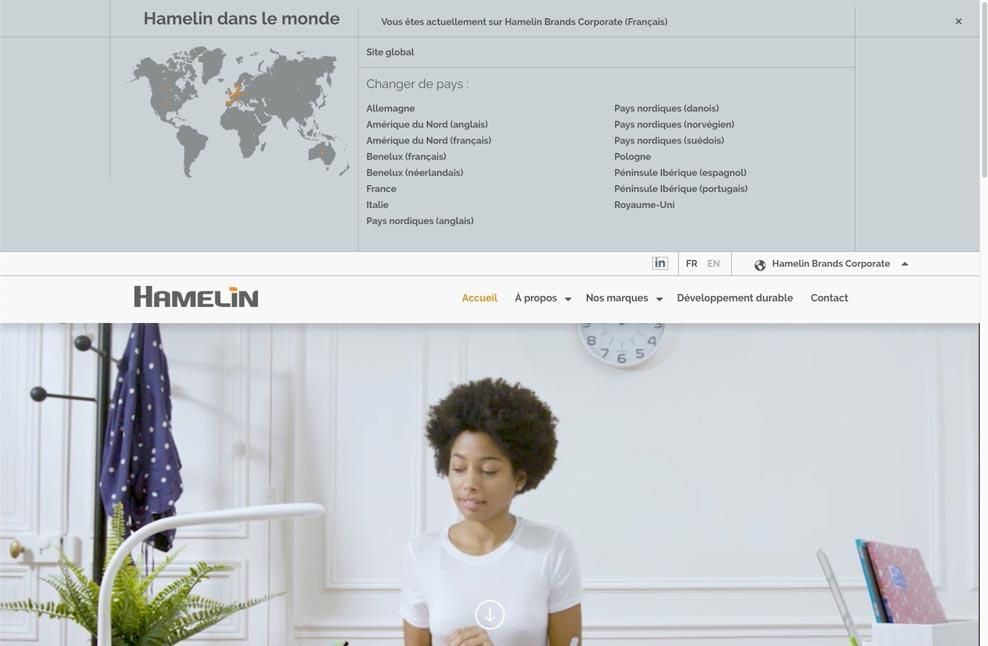 Menu pays de Hamelin Brands