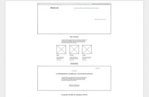 Wireframe du site Hamelin Brands
