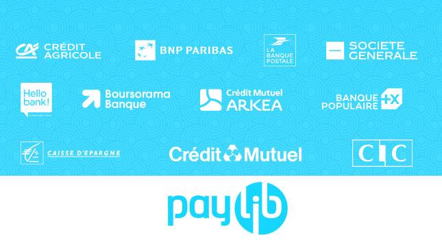 Logos banques et Paylib